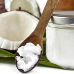 Coconut Oil on Wooden Spoon