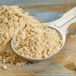 Maca Powder on Spoon